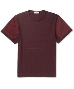 Marni | Poplin-Panelled Cotton-Jersey T-Shirt