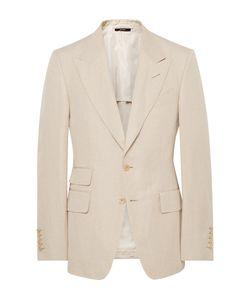 Tom Ford | Shelton Slim-Fit Silk And Linen-Blend Suit Jacket