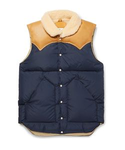 Rocky Mountain Featherbed | Christy Leather-Trimmed Quilted Nylon Down Gilet