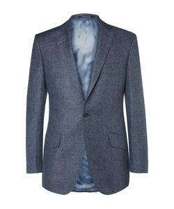 RICHARD JAMES | Slim-Fit Slub Linen And Wool-Blend Puppytooth Suit