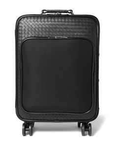Bottega Veneta | Intrecciato Leather And Canvas Suitcase