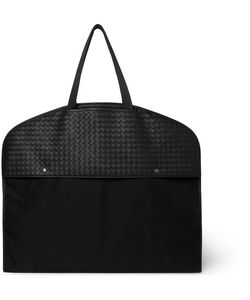 Bottega Veneta | Intrecciato Leather And Canvas Garment Bag