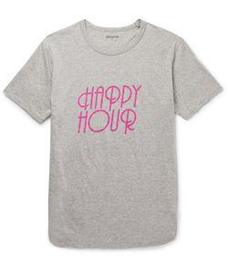 NONNATIVE   Happy Hour Printed Mélange Cotton-Jersey T-Shirt