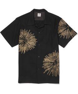 Sasquatchfabrix. | Sasquatchfabrix. Fireworks Camp-Collar Embroidered Cotton And Linen-Blend Shirt
