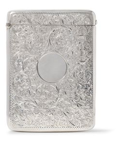 Foundwell Vintage | 1900 Oversized Engraved Sterling Card Case