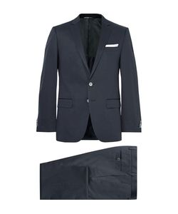 HUGO BOSS | Hutson Gander Slim-Fit Stretch-Cotton Suit Midnight