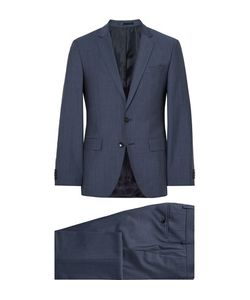 HUGO BOSS | Slim-Fit Virgin Wool And Mohair-Blend Sharkskin Suit