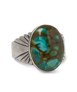 Foundwell Vintage | 1980s Sterling Dragon Skin Turquoise Ring