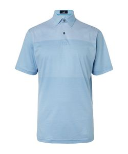 DUNHILL LINKS | Manchester Striped Stretch-Jersey Golf Polo Shirt Light