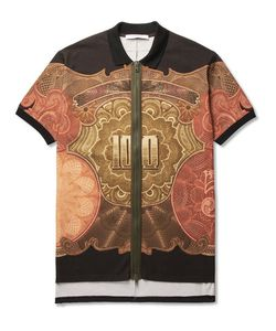 Givenchy | Columbian-Fit Printed Cotton-Piqué Zip-Up Polo Shirt