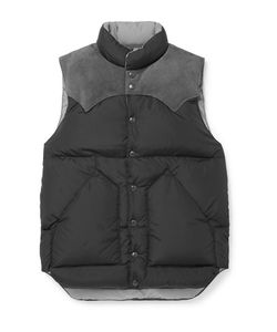 Rocky Mountain Featherbed | Suede-Trimmed Shell Down Gilet
