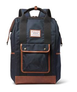 Master-Piece | Gabatte Leather-Trimmed Cordura Backpack