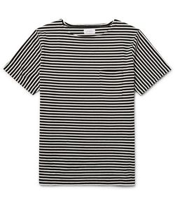 SATURDAYS NYC | Striped Cotton-Jersey T-Shirt