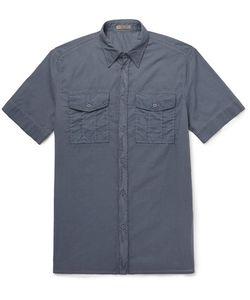 Bottega Veneta | Garment-Dyed Washed Cotton-Poplin Shirt