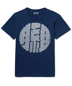 Blue Blue Japan | Slim-Fit Printed Dyed Cotton-Jersey T-Shirt