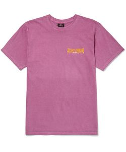 Stüssy   Slim-Fit Printed Cotton-Jersey T-Shirt