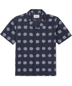 Folk | Camp-Collar Printed Linen And Cotton-Blend Shirt