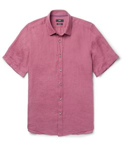 HUGO BOSS | Garment-Dyed Linen Shirt