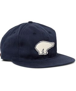 EBBETS FIELD FLANNELS | 1950 Cervezeria Polar Appliquéd Wool-Twill Baseball Cap