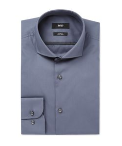 HUGO BOSS | Jerrin Slim-Fit Cutaway-Collar Cotton-Poplin Shirt