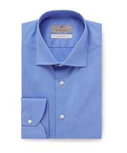Canali | Slim-Fit End-On-End Cotton Shirt