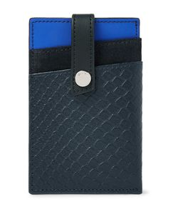 Want Les Essentiels | Kennedy Colour-Block Leather And Suede Cardholder With