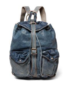 RRL | Riley Washed-Leather Backpack
