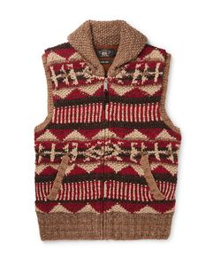 RRL | Shawl-Collar Linen Silk Wool Cotton And Mohair-Blend Gilet