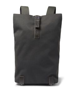 BROOKS ENGLAND | Pickwick Small Leather-Trimmed Cotton-Canvas Backpack