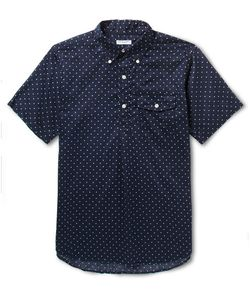 Engineered Garments | Button-Down Collar Half-Placket Polka-Dot Cotton Shirt