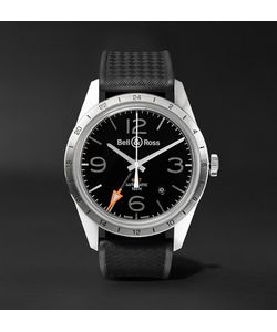 Bell & Ross | Br 123 42mm Steel And Rubber Watch