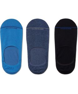 Marcoliani | Three-Pack Invisible Touch Stretch Pima Cotton-Blend No-Show Socks