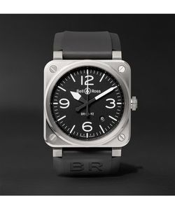 Bell & Ross | Br03-92 42mm Stainless Steel And Rubber Watch