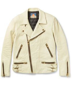 Blackmeans | Slim-Fit Distressed Leather Biker Jacket