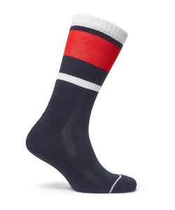 Lacoste Tennis | Striped Stretch Cotton-Blend Socks