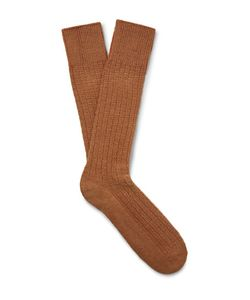 Mr. Gray   Textured-Knit Socks