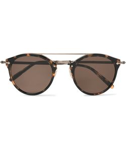 Oliver Peoples | Remick Round-Frame Acetate And Burnishedtone Sunglasses