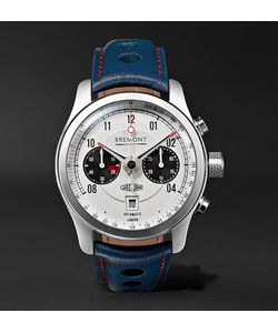 Bremont | Mkii Jaguar 43mm Stainless Steel And Leather Watch