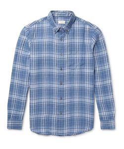 Club Monaco | Slim-Fit Button-Down Collar Checked Linen Shirt