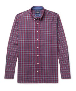 Hackett | Slim-Fit Button-Down Collar Checked Cotton Shirt