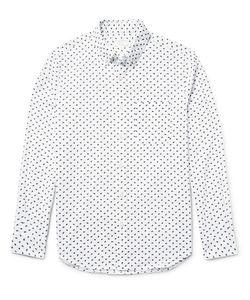 Club Monaco | Slim-Fit Printed Cotton Shirt