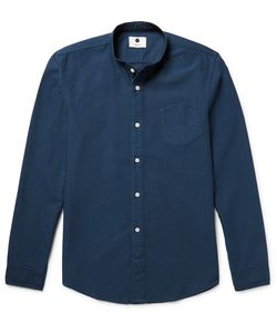 NN07 | Samuel Slim-Fit Grandad-Collar Cotton Oxford Shirt