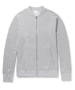Handvaerk | Mélange Loopback Pima Cotton-Jersey Varsity Jacket