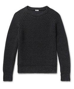 Eidos | Ribbed Mélange Cashmere And Cotton-Blend Sweater