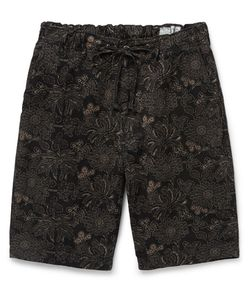 Orslow | New Yorker Printed Cotton And Linen-Blend Shorts