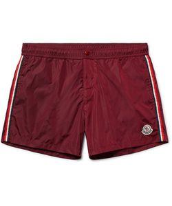 Moncler | Short-Length Stripe-Trimmed Swim Shorts