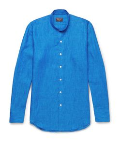 Emma Willis | Slim-Fit Grandad-Collar Linen Shirt