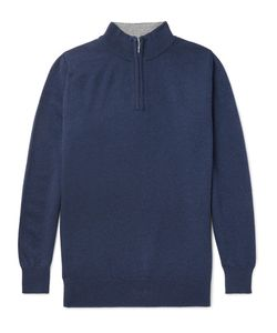William Lockie | Cashmere Half-Zip Sweater