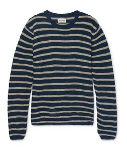 Oliver Spencer | Seymour Slim-Fit Striped Linen And Cotton-Blend Sweater