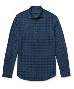 BERLUTI   Slim-Fit Checked Cotton Shirt